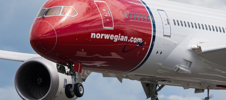 La Norwegian segnala una crescita del 13% dei passeggeri a gennaio