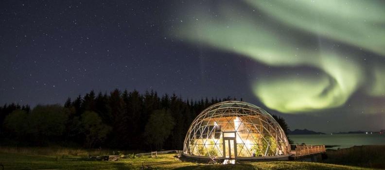 La Norvegia ha creato un'eco-casa unica sotto la cupola di vetro