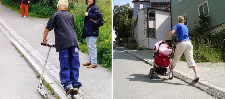 Norvegia: L'unica scala mobile per biciclette al mondo