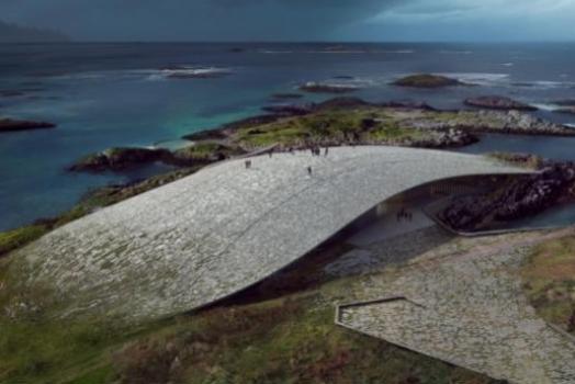 (Italiano) In Norvegia apre The Whale, una balena in pietra da cui osservare i cetacei