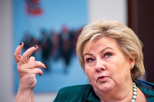 La campagna di Erna Solberg per aggiudicarsi le elezioni