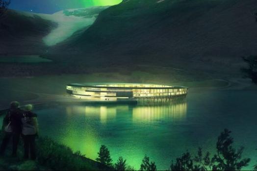 (Italiano) Norvegia: di fronte al ghiacciaio Svartisen nascerà il primo hotel al mondo a energia positiva