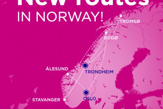(Italiano) Norvegia: La compagnia aerea Wizz Air ha annunciato la base di Trondheim e 7 nuove rotte nazionali